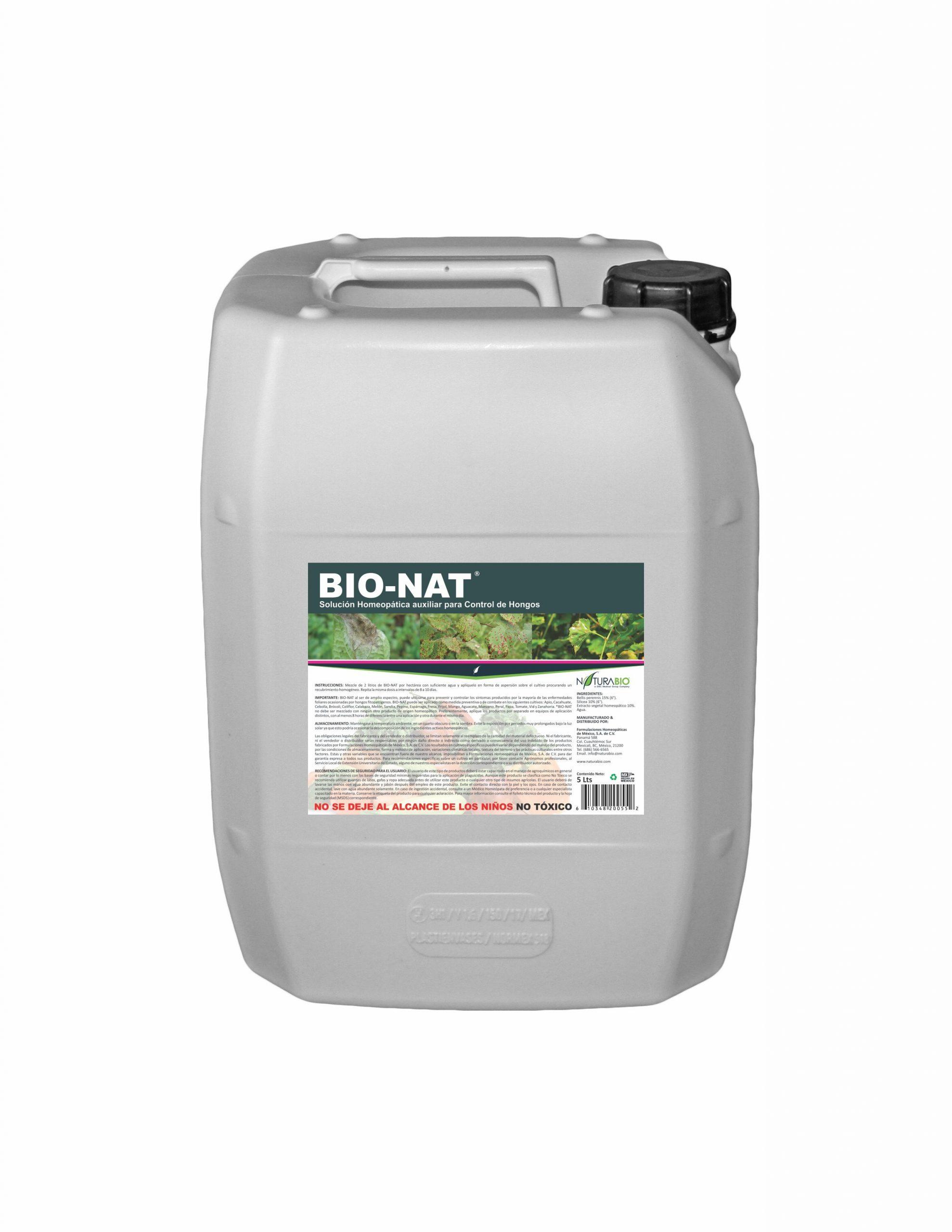 BIO-NAT Solución Homeopática auxiliar para Control de Hongos