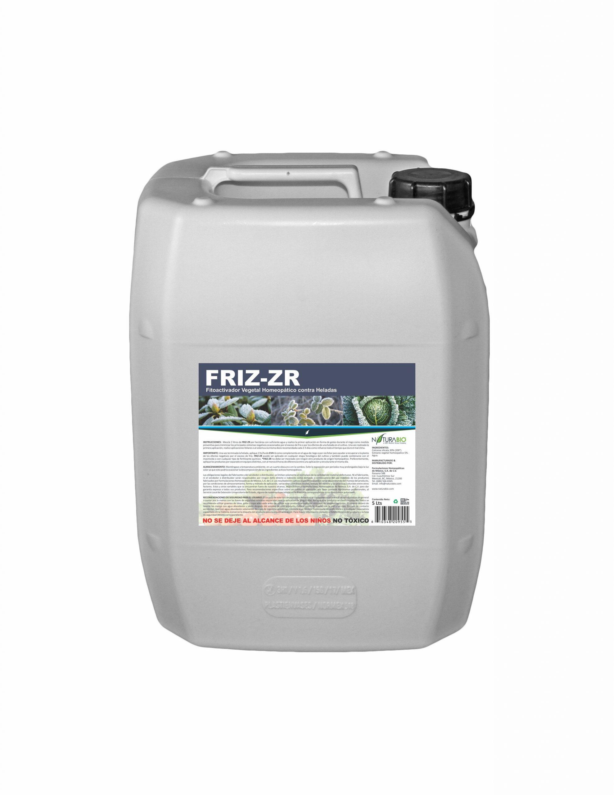 FRIZ-ZR Fitoactivador Homeopático para minimizar el efecto de las Heladas