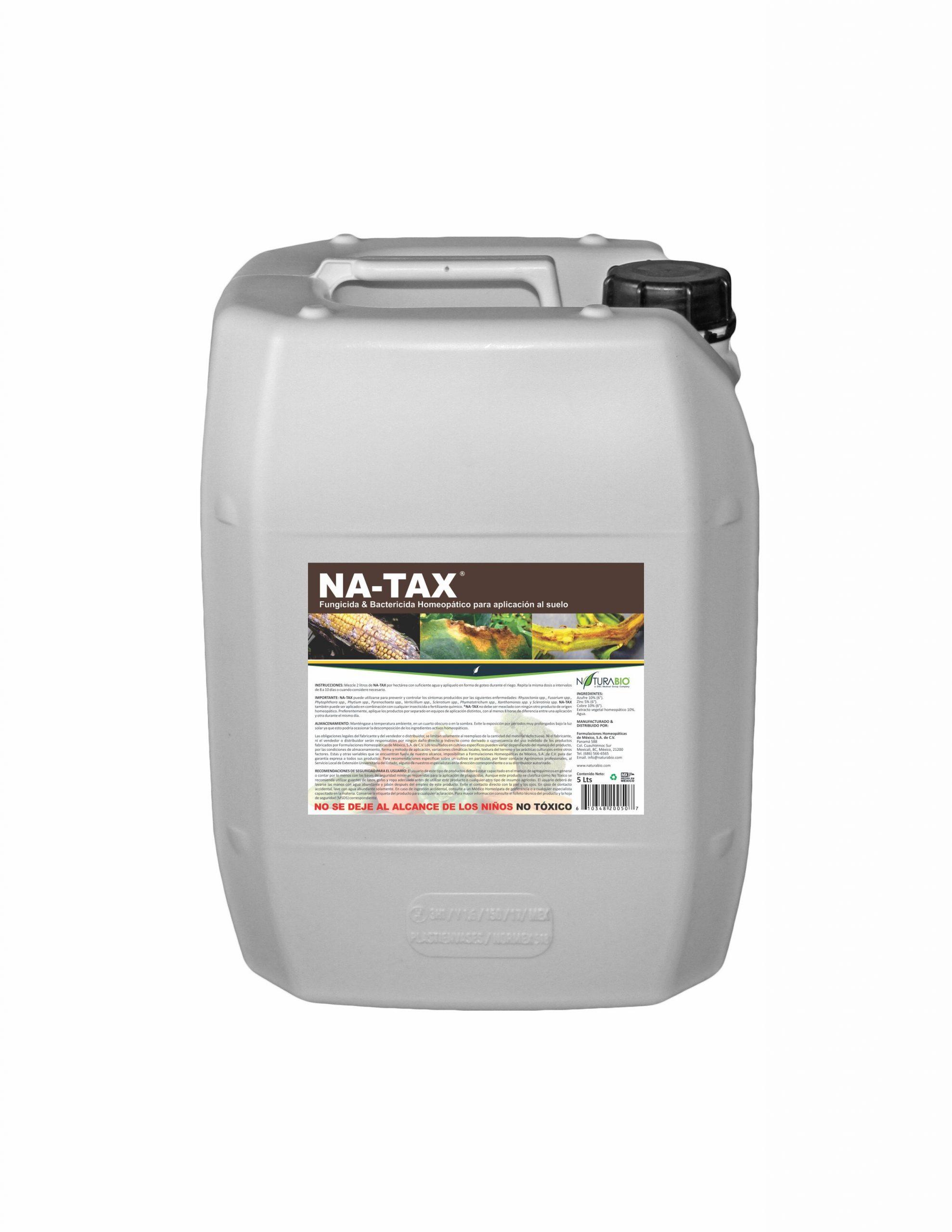 NA-TAX Solución Homeopática auxiliar para Control de Hongos y Bacterias del Suelo