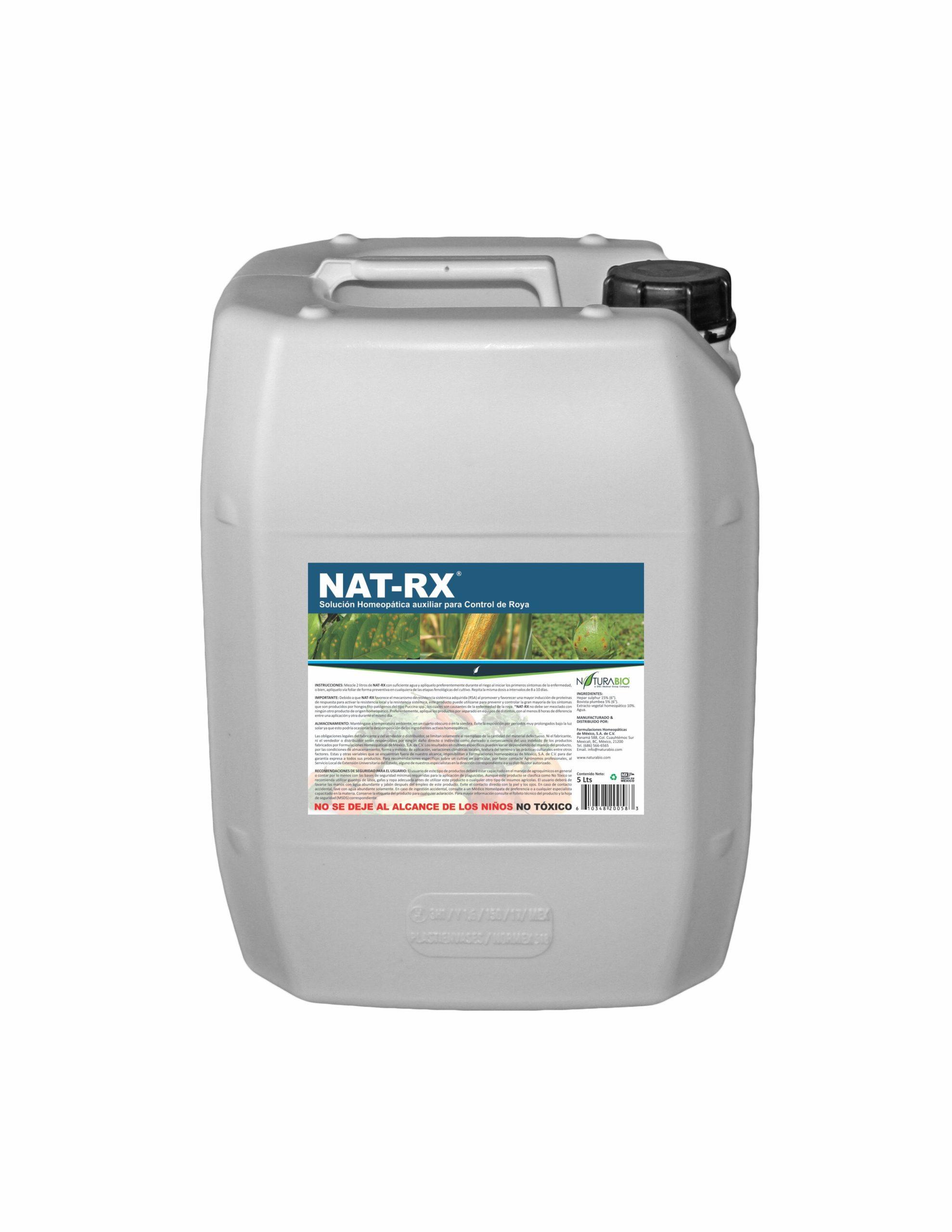 NAT-RX Solución Homeopática auxiliar para Control de Roya