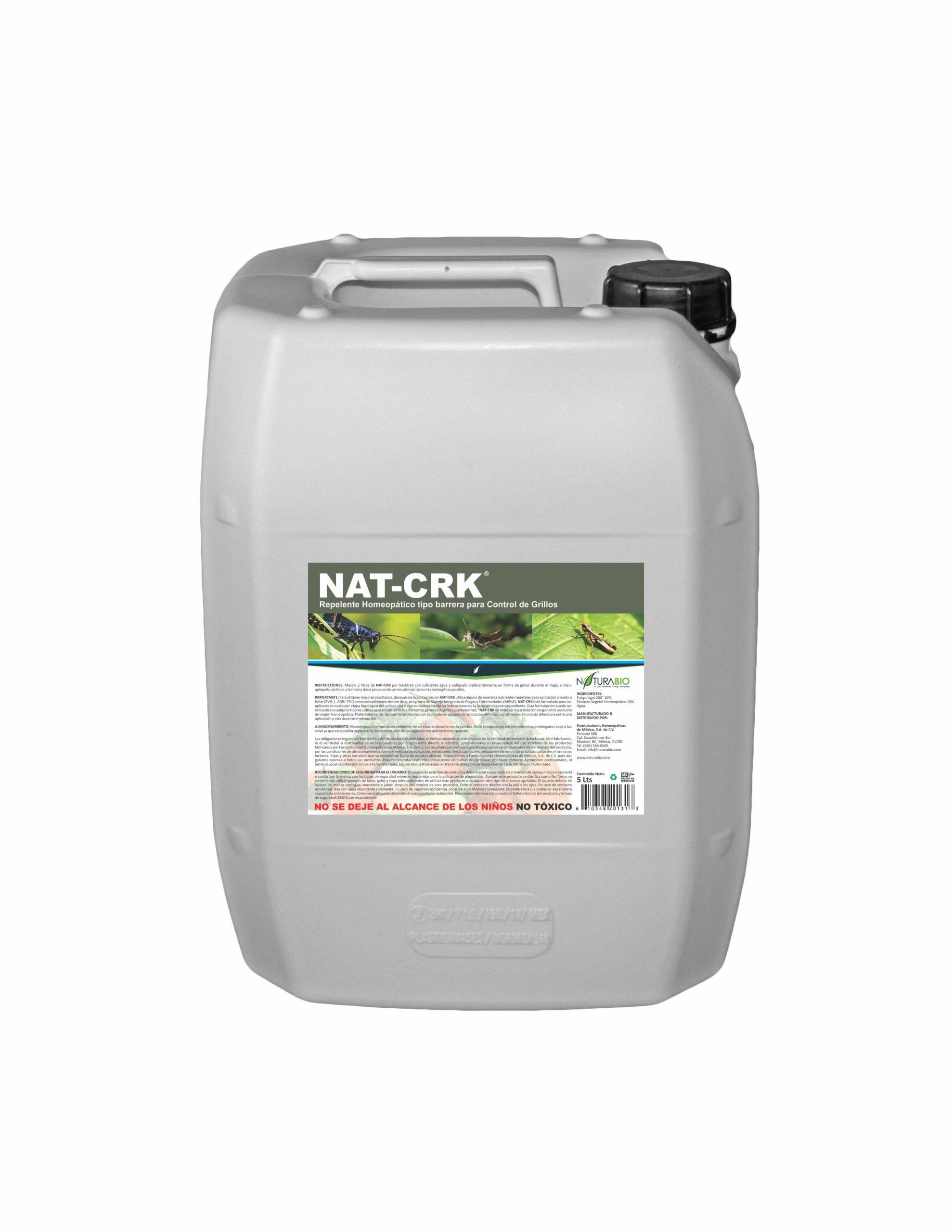 NAT-CRK Repelente Homeopático tipo barrera para Control de Grillos