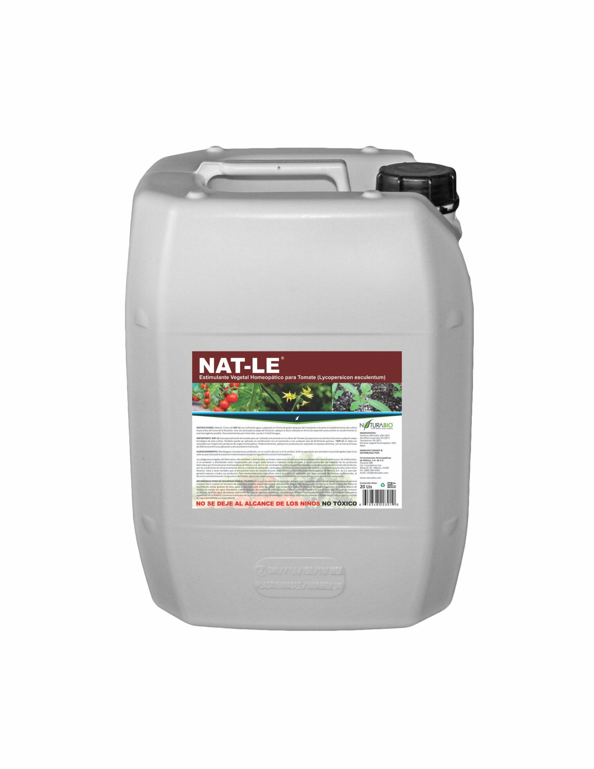 NAT-LE Estimulante Vegetal Homeopático para Tomate