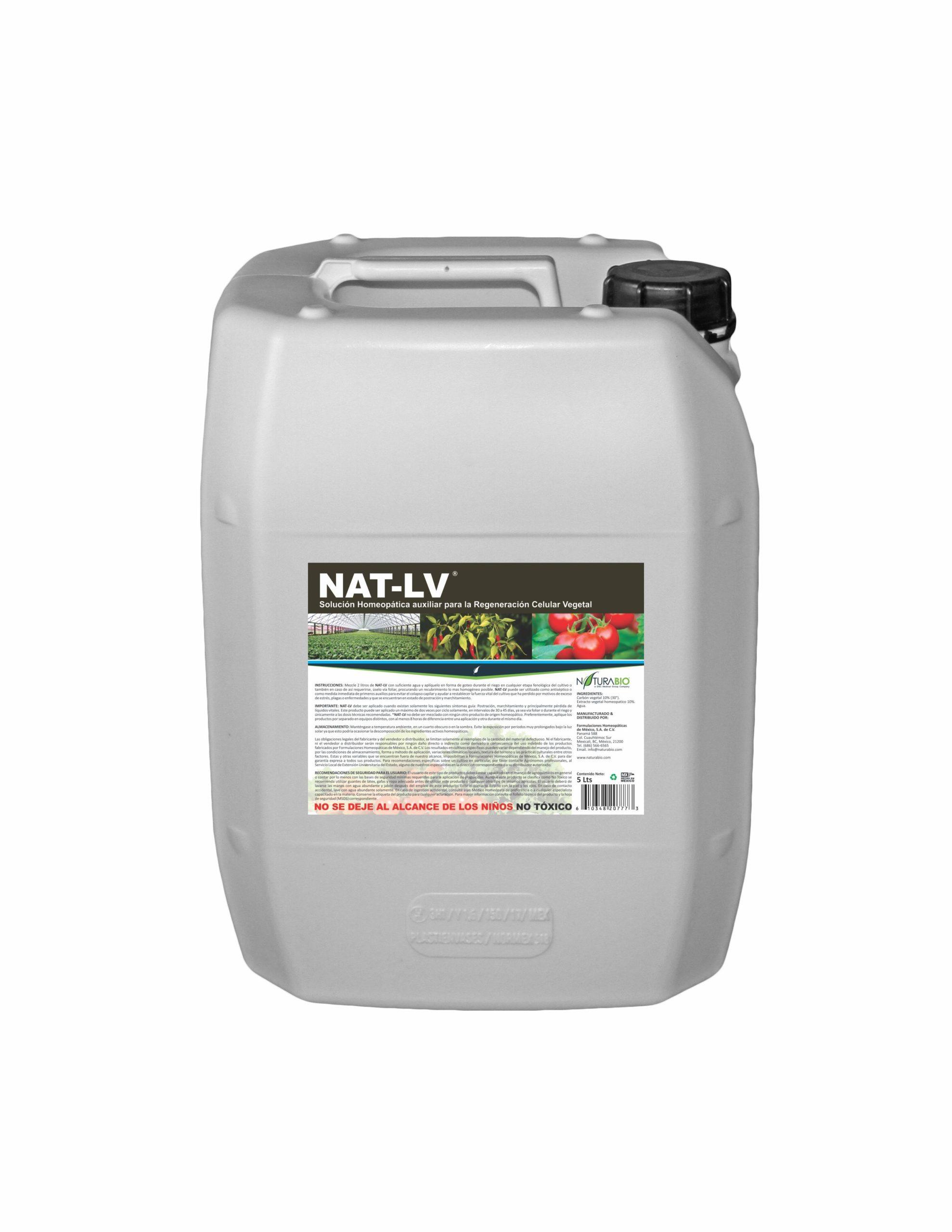 NAT-LV Solución Homeopática auxiliar para la Regeneración Celular