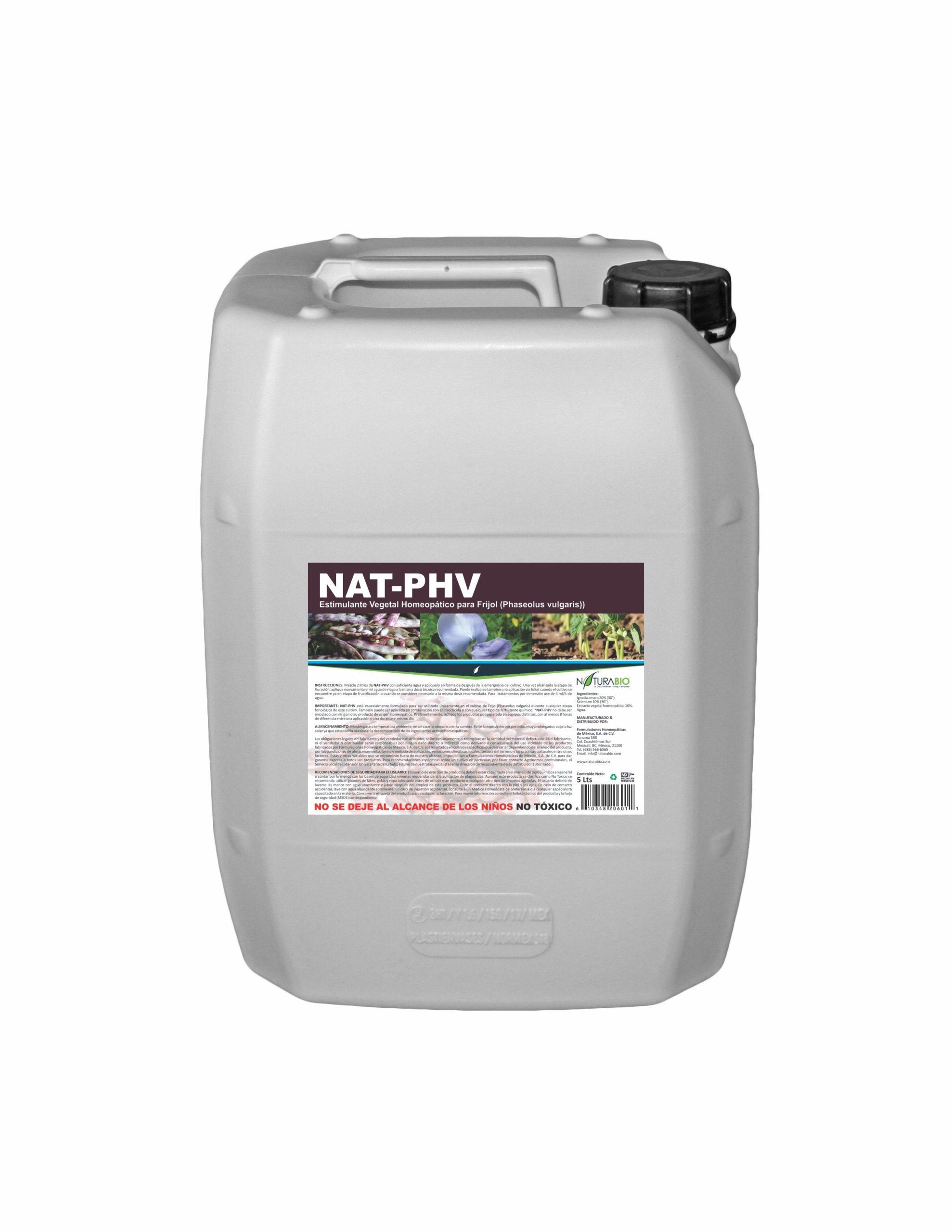NAT-PHV Estimulante Vegetal Homeopático para Frijol