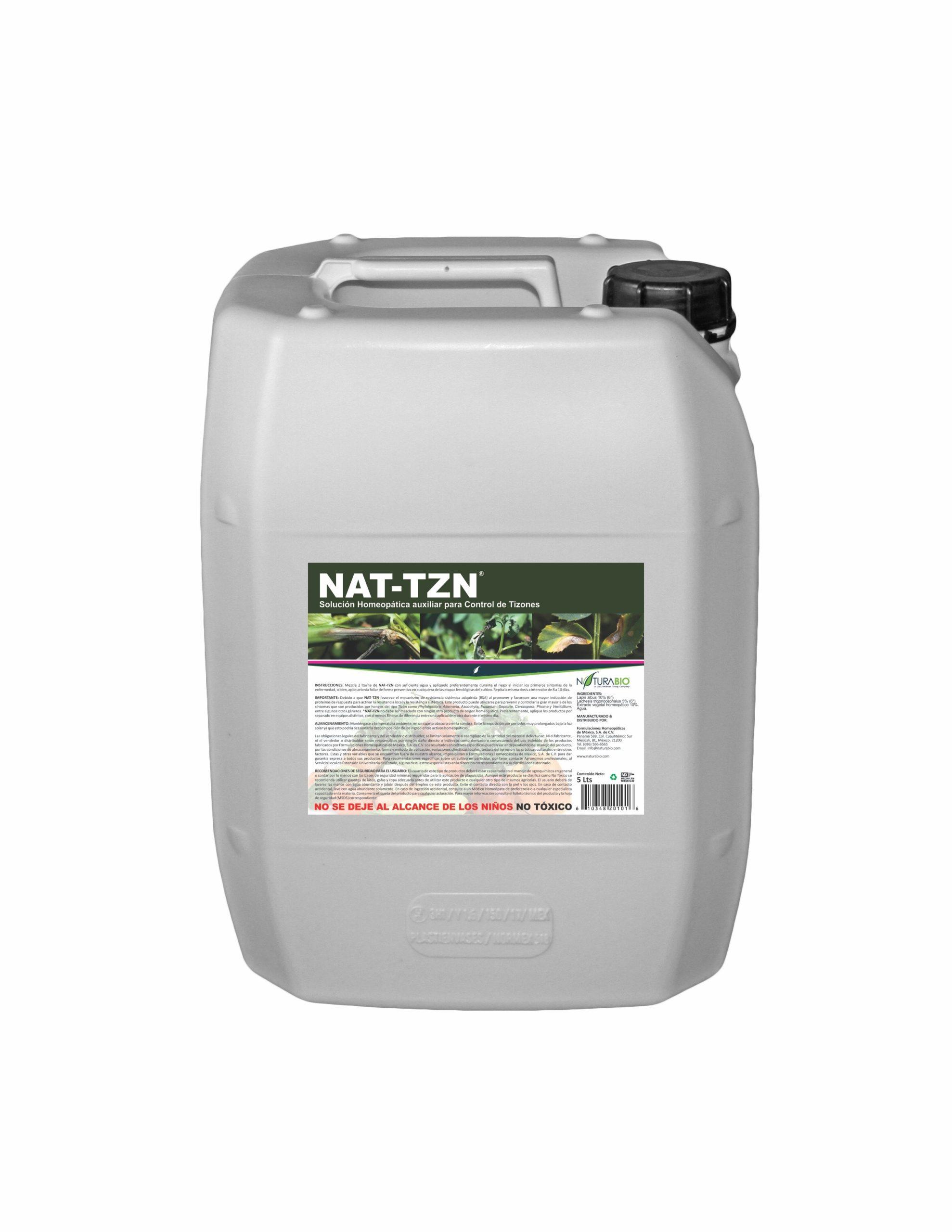 NAT-TZN Solución Homeopática auxiliar para Control de Tizones