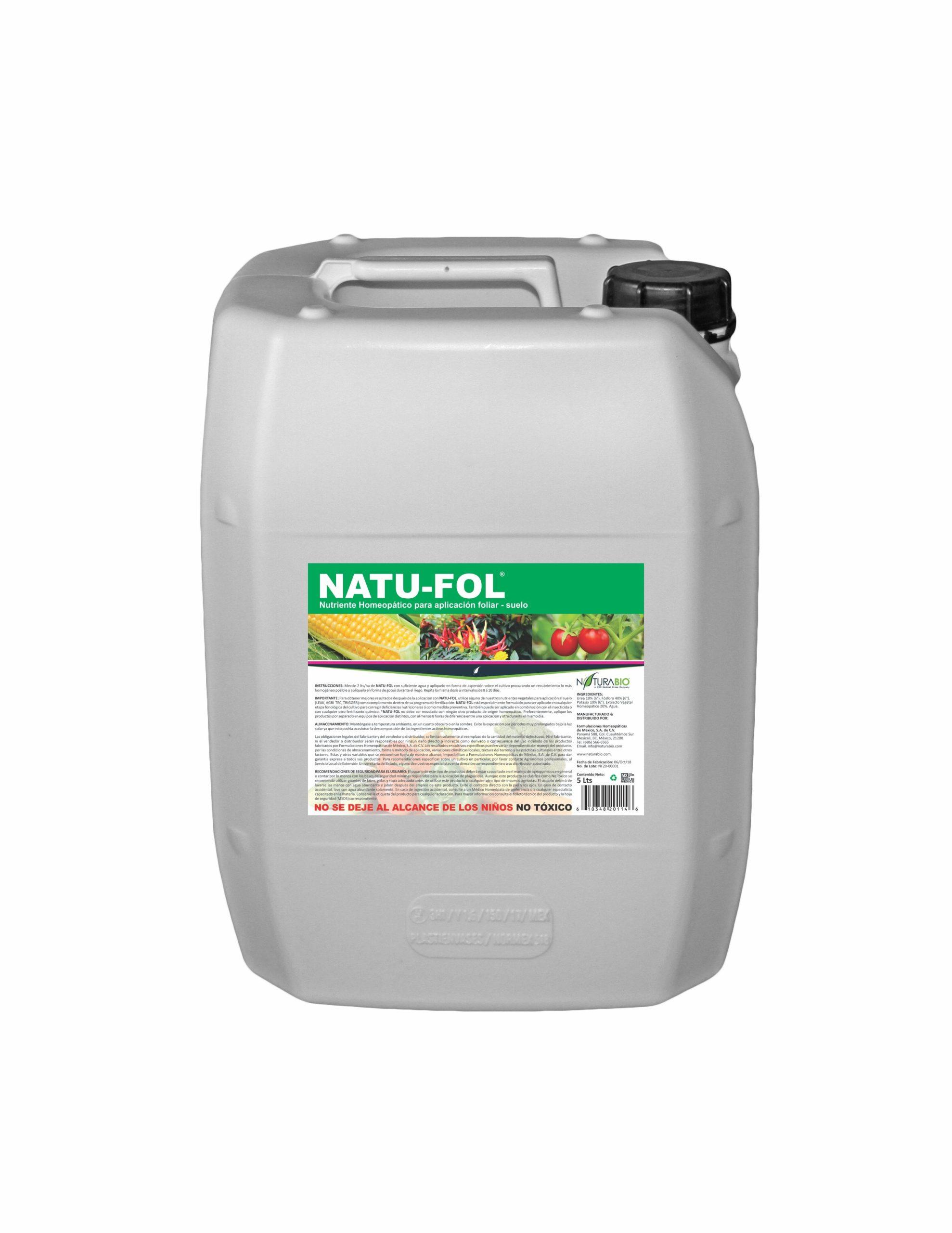 NATU-FOL Nutriente Homeopático Foliar