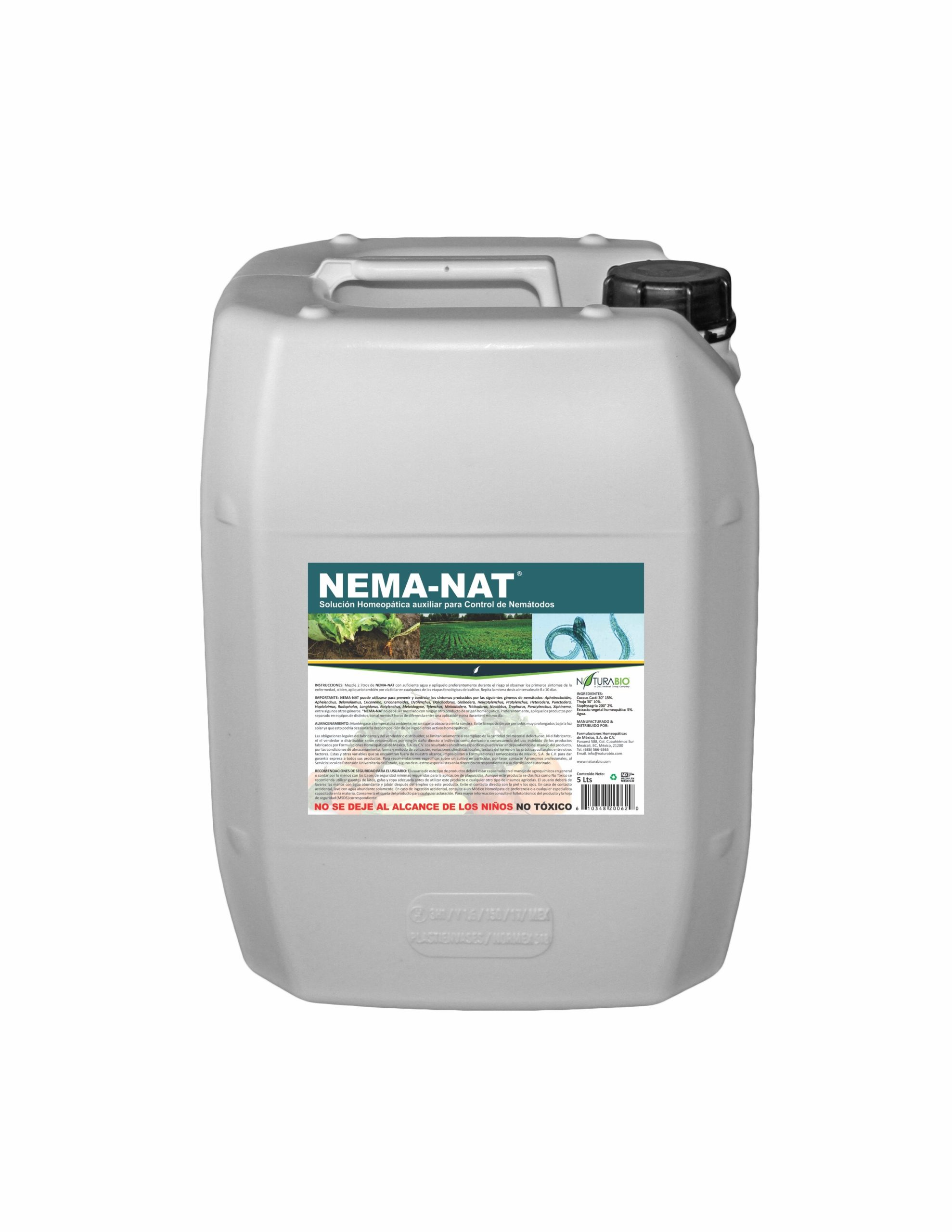 NEMA-NAT Solución Homeopática auxiliar para Control de Nemátodos