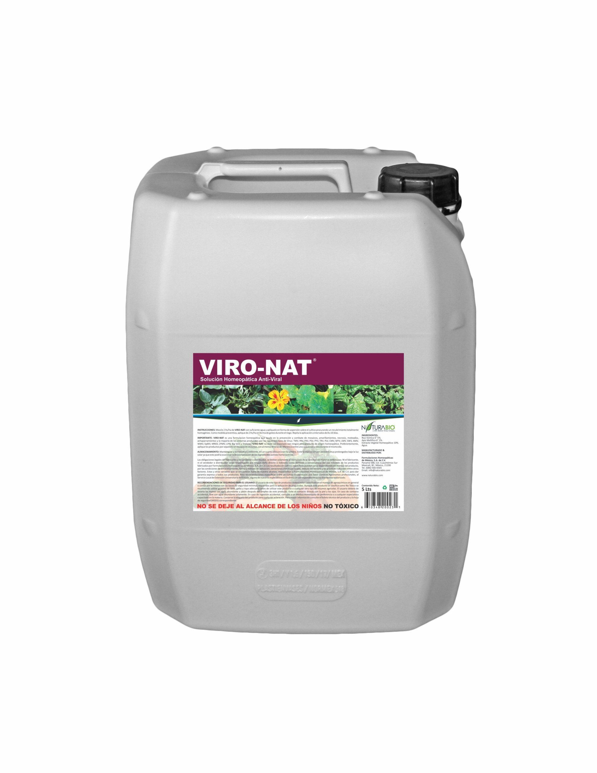 VIRO-NAT Solución Homeopática auxiliar para Control de Virosis