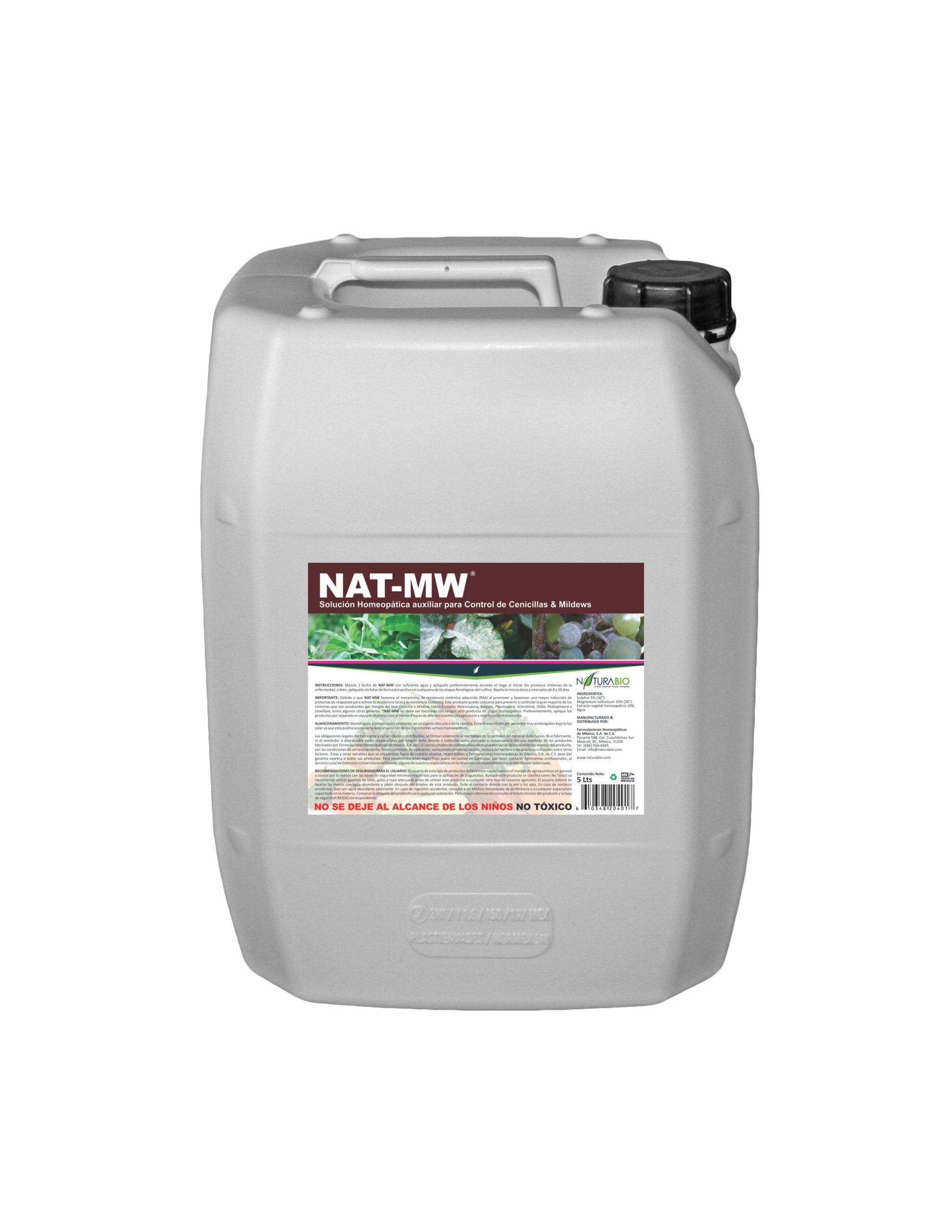 NAT-MW Solución Homeopática auxiliar para Control de Cenicillas y Mildews