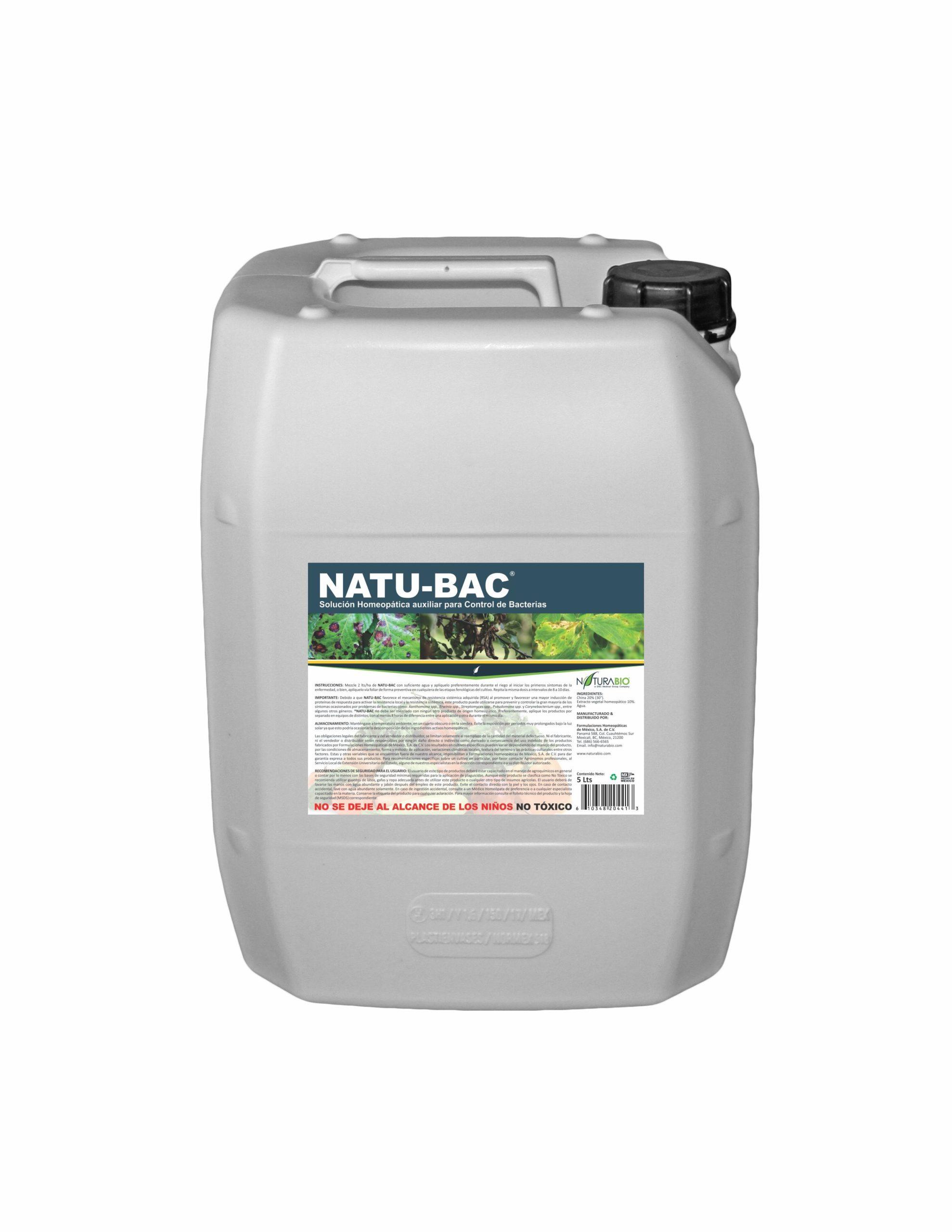 NATU-BAC Solución Homeopática auxiliar para Control de Bacterias